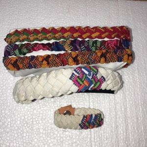 Bundle of four native headbands and bracelet